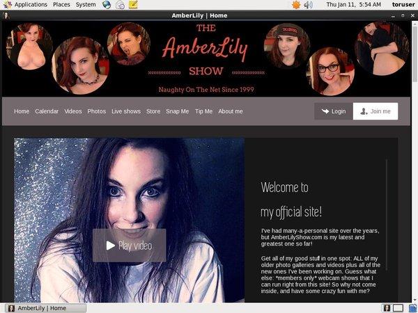 Login Amberlilyshow.com